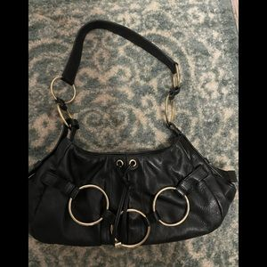 YSL/Tom Ford Calfskin Saharienne Hobo Bag Black